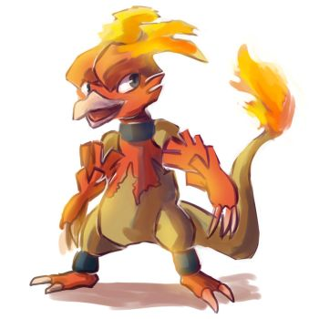 (Day 32) magmar by ColorsAreAwesome