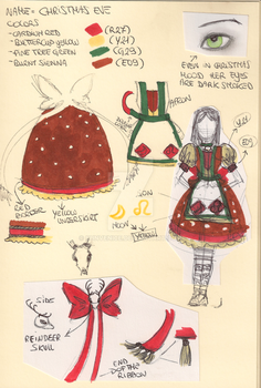 Christmas Eve Dress Design by SunVenice