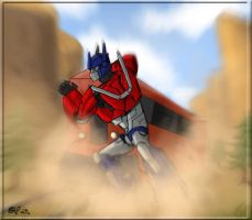 optimus stop the train... by SoulRobot