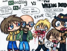 Breaking Bad And The Walking Dead by Violent-Rainbow