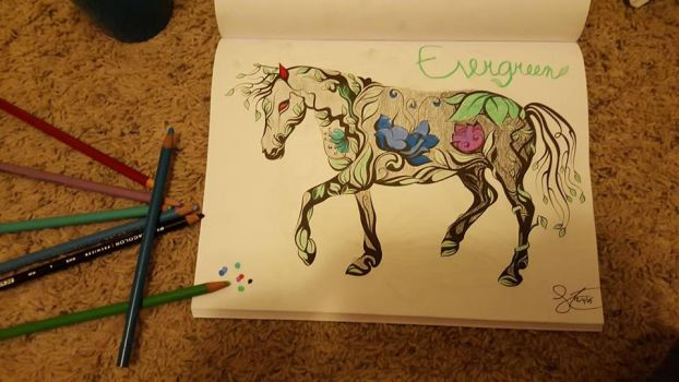Evergreen the stone horse by Kitty1617
