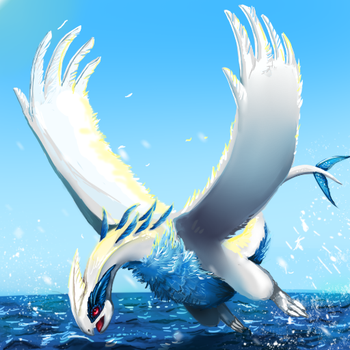 My Semi-Realistic Lugia by canned-sardines
