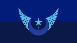 The Flag of the New Lunar Republic (No Text) by PilotSolaris