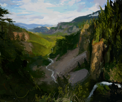 Mountains - Background by LeoPacus