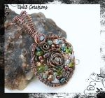 Swirly Circle Copper Wire Pendant by kelleejm1