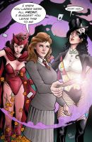 hermione scarlet witch and zatanna csbg by StevenHoward