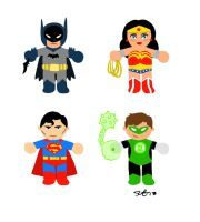 Superheroes Icons by scootah91