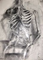 Mixed media-Skeleton by Magamish