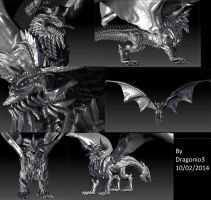 Bull Dragon Full 3D model -without paint by Dragonio3