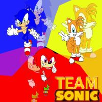 Team Sonic by speediothehedgehog