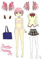 Madoka Kaname Paper Doll (part 2 in description!!) by 1995kyzzz1995