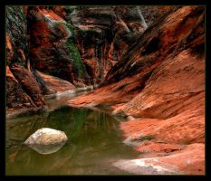 red cliffs green pools by neetrith