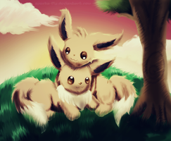.Eevee Love. by MadWulfie