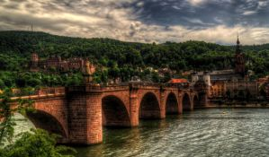 Heidelberg old Bridge and Castle by Eagle86