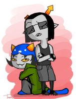 Nepeta and Equius by BeagleTsuin