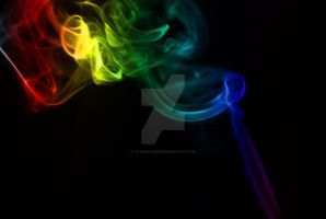 Billowing Coloured Smoke by filemanager