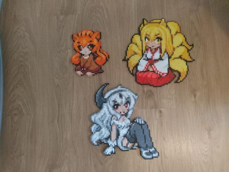 Moemon #4-6 Vulpix, Ninetales and Absol by MagicPearls