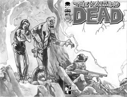 HERO INITIATIVE WALKING DEAD 100 Final Spread by mytymark