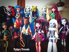 Some of my Monster High Dolls by Tokyo-Trends