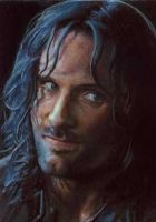 Aragorn close card by charles-hall