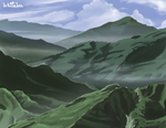 Forest Mountains by NuclearJackal