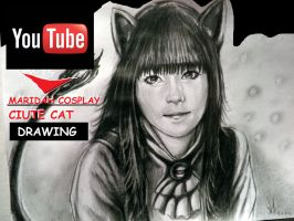 MARIDAH  - CIUTE CAT DRAWING TIMELAPSE  =^.^= by GenKey