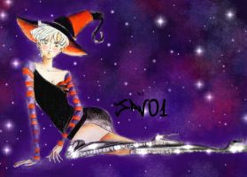 Haruka tenou -sailor uranus -  halloween by zelldinchit