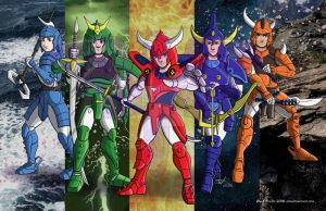 Ronin Warriors Poster by lizstaley