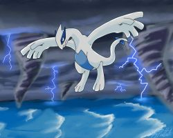 Lugia's storm by Juddlesart
