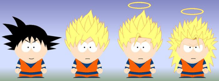 South Park Goku by grimmjack