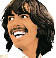 George Harrison by garrett-btm