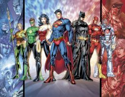 new jla - old superman color by dp1004