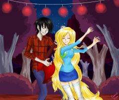 bad little boy marshall lee and fionna -AT- by cheryl-jum