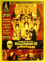 Sub-Cinema Halloween Special Screenprint Poster by r-k-n