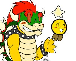 Bowser and Starlow by Nekoender