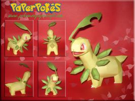 Bayleef Papercraft by Carnilmo