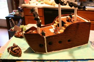 Gingerbread Pirate Ship by Twaliger