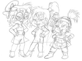 The Stylin' Chipettes (sketch) by Peacekeeperj3low