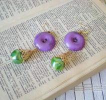 Buttoned Up Earrings by RetroRevivalBoutique