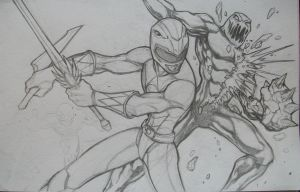 Red Ranger Vs. Putty Patrol W.I.P. by seraphimon83
