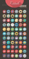 Radial Icon set 3 - Sweet Flat Icons by Softboxindia