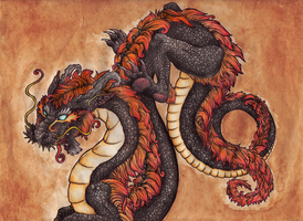 Eastern Dragon by DablurArt
