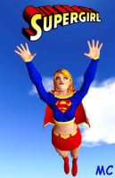 Supergirl In The Sky by The-Mind-Controller