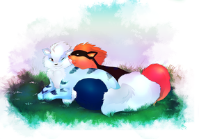 Arcanine Love by littlepolka
