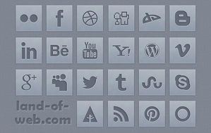 FREE Grey Social Icons Pack by NatalyBirch