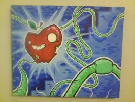 Mr Apple has Worms by JustinSels