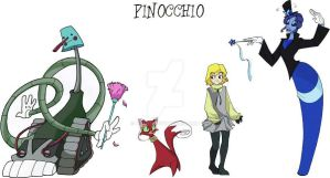 Pinocchio character design by ktshy