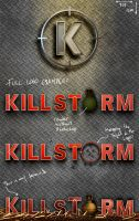 Killstorm: Logo, Banner, and Background WIP by ChrisMasna