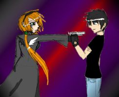 Shoot Me, I Dare You by rabbitgirl316