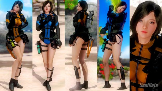 DOWNLOAD: KIM JIYUN - default costume [DOA5LR] by SaafRats